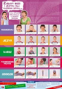 plakat - zabawy buzi i języka