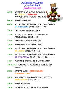 kalendarium PAŻDZIERNIK-1